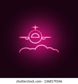 flaying neon icon. Elements of travel set. Simple icon for websites, web design, mobile app, info graphics