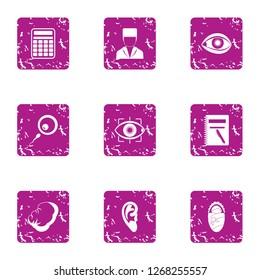 Flesh icons set. Grunge set of 9 flesh icons for web isolated on white background