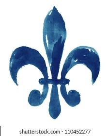 Fleur De Li (Hand Painted)