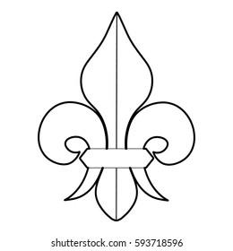 Fleur de lis icon. Outline illustration of fleur de lis icon for web