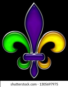 Fleur De Lis Mardi Gras Party New Orleans Parade