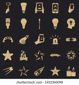 Flicker icons set. Simple set of 25 flicker icons for web for any design