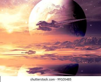 Flightpath of Alien Spaceship