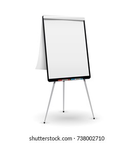 Flip Chart . Office Whiteboard For Business Training. Isolated Illustration