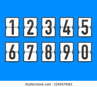 Flip countdown clock counter timer.  time remaining count down flip board with scoreboard of day, hour, minutes and seconds for web page upcoming event template design.  stock illustration