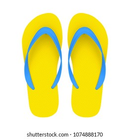 Flip-flops Sandal Isolated. 3D rendering
