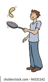 Flipping pancake