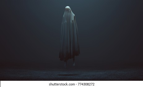 Floating Evil Spirit in a foggy void 3d Illustration 3d Rendering