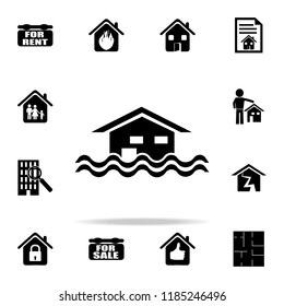 floating house icon. Real estate icons universal set for web and mobile
