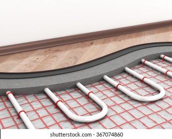 Floor heating system.