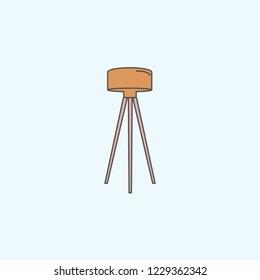 Floor lamp icon on white background