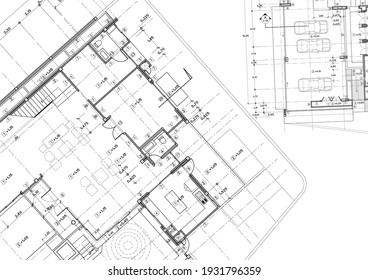 Floor plan designed building on the drawing.