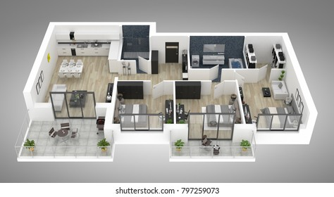 3d Floor Plan Images, Stock Photos & Vectors | Shutterstock