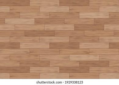 Floor wood parquet. Flooring wooden seamless pattern. Design laminate. Parquet rectangular tessellation. Floor tile parquetry plank. Hardwood tiles. Rectangles slabs. Brown background. Illustration