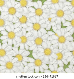 Floral background, paper texture, seamless