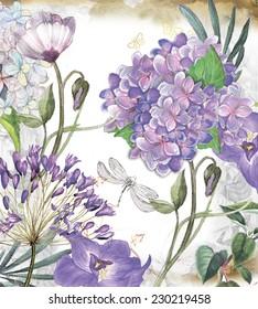 """floraler Hintergrund """"Frühjahrsgarten"""""""