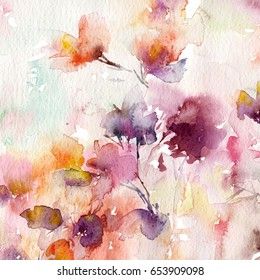 Watercolor painting images stock photos vectors shutterstock watercolor floral background greeting card wedding invitation template floral card m4hsunfo