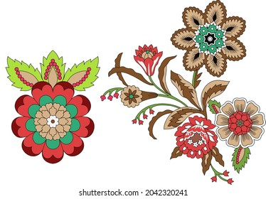 floral banche and color full and beautiful