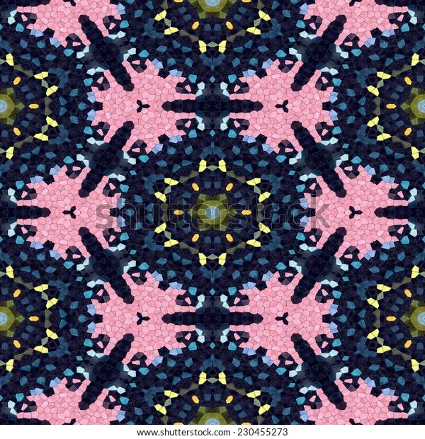 Floral decorative colorful mosaic