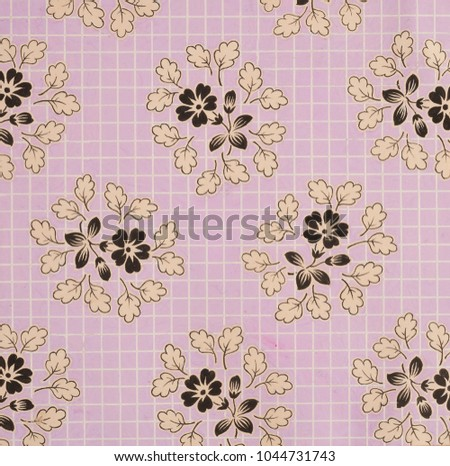 Royalty Free Stock Illustration Of Floral Designs On Paper Hand Made