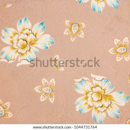 Floral Designs On Paper Hand Made Stock Illustration 1044731764