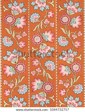 Floral Designs On Paper Hand Made Stock Illustration Royalty Free