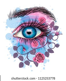 Floral Eye - Stylized art