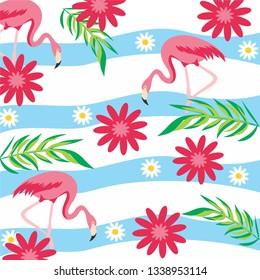 Floral Flaminggo Background