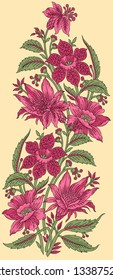 floral flower motif