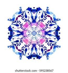 Floral mandala with ornament elements. Fashion style/ print design
