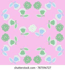 Floral motifs pattern . Hand drawn.