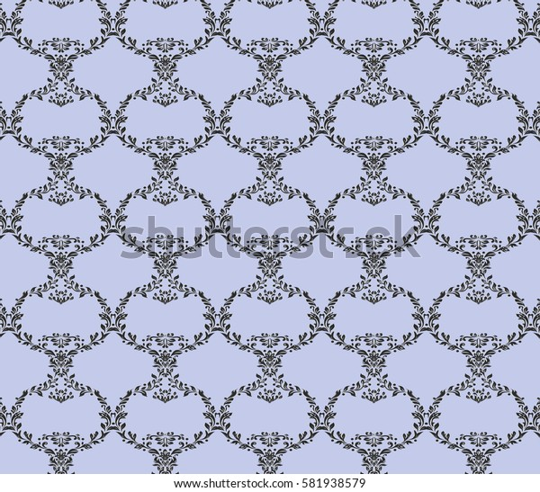 floral pattern Damascus. the rich ornament, the Royal pattern, decorative pattern. curved leaves and flowers.textiles, Wallpaper,carpets, packaging