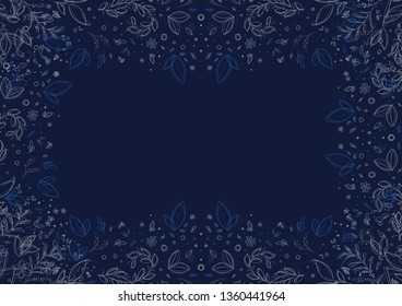 Navybluefloralbackground Images Stock Photos Vectors