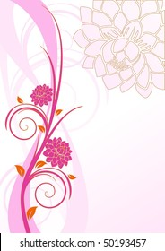 Floral pink cover with flowers, vector version also available in my portfolio