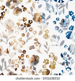 Floral repeat pattern with distressed texture and color