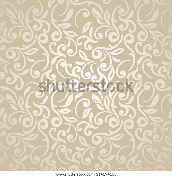 Floral Seamless Abstract Elegant Wallpaper Stock