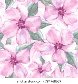 Floral seamless pattern 4. Watercolor background with delicate flowers