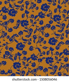 Floral seamless pattern - Illustration flower, Single Flower, Floral Pattern with on colors. Print, textile, background