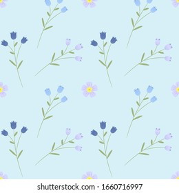 Floral seamless pattern. Raster hand drawn texture. Romantic background for fabric, web pages, wedding invitations, save the date cards.