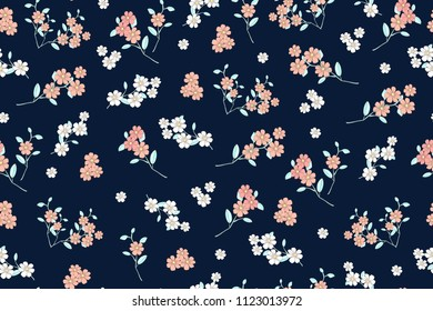 Seamless Floral Pattern Cute Vintage Flower Stock Vector Royalty