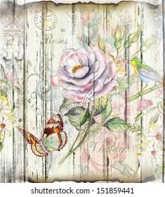 floraler Vintage-Hintergrund