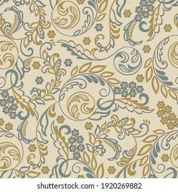 Floral vintage background. Seamless pattern