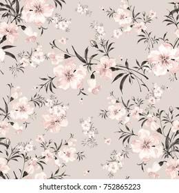 Floral watercolor background a gentle bouquet W