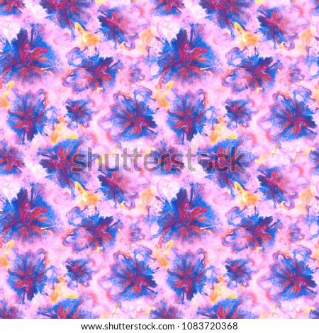 floral watercolor pattern summer vintage flower stock illustration rh shutterstock com