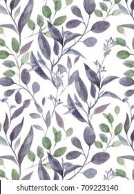 Blumenwasserfarbe nahtlos Muster