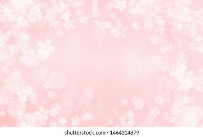 Floral white lace pattern on a pink background