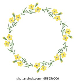 Yellow Flower Wreath Images Stock Photos Vectors