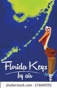 Florida Keys Pelican cartoon.