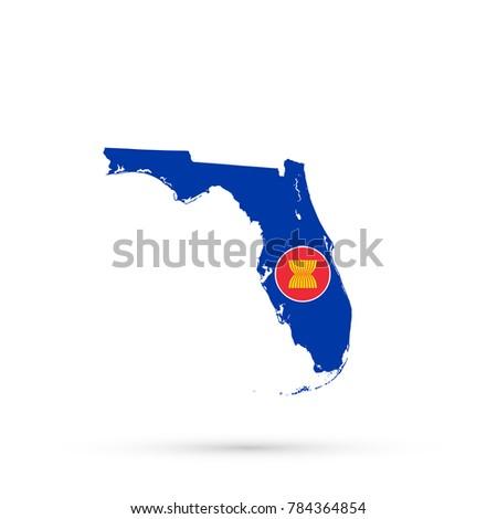 Royalty Free Stock Illustration Of Florida Map Association Southeast