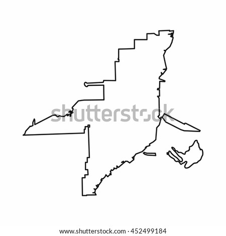 Florida Map Outline.Florida Map Icon Outline Style Isolated Stock Illustration 452499184
